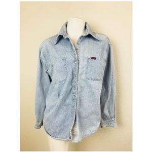 Rifle Expression Large Button Front Chambray Shirt